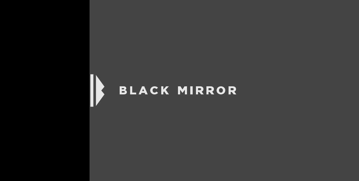 bluedesign / design your future - black mirror logo